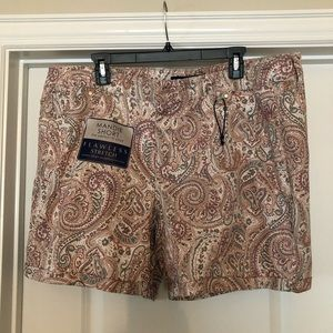 Plus SZ Paisley Print Shorts